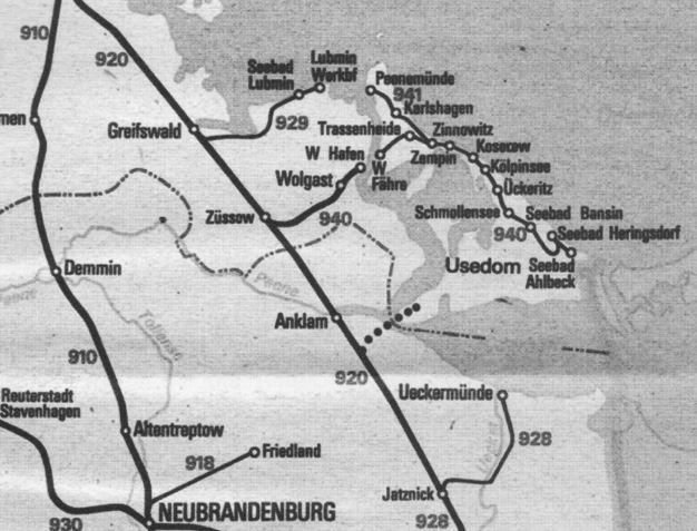 Usedom Karte Grenze.Fahrplan In Die Geschichte Der Bahnlinie Ducherow Swinemünde