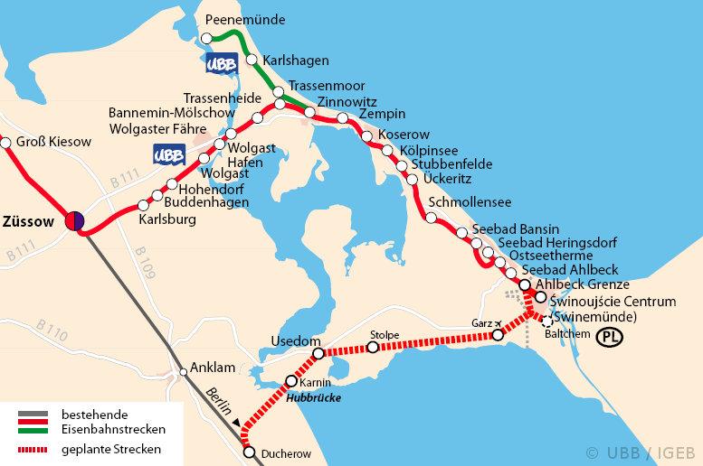 Usedom Karte Grenze.Berlin Usedom In 2 Stunden Wiederaufbau Der Bahnstrecke über Karnin
