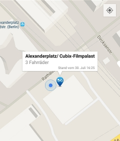 Screenshot: Nextbike-App für Android